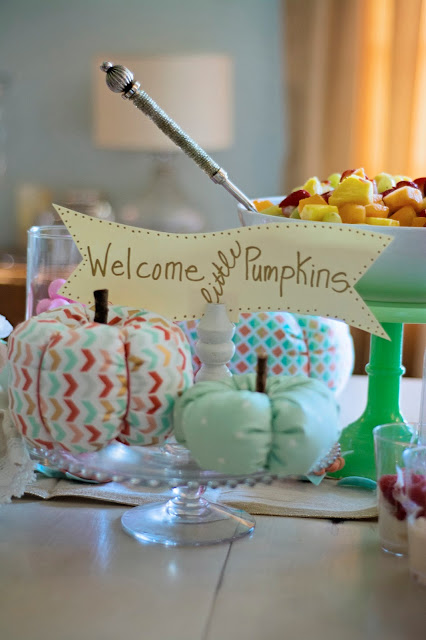 Fall Girl Baby Shower decorations
