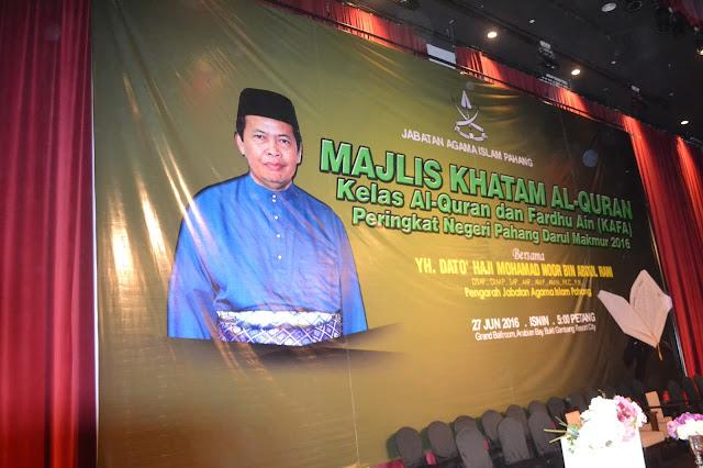 Majlis Khatam Al-Quran Kelas Al-Quran dan Fardhu Ain (KAFA) Peringkat Negeri Pahang 2016