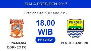 Semifinal Piala Presiden 2017: PBFC Target Dua Gol, Persib Waspada