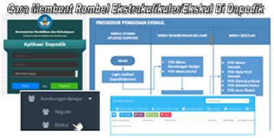 Cara Membuat Rombel Ekstrakulikuler/Ekskul Di Dapodik Versi 2018