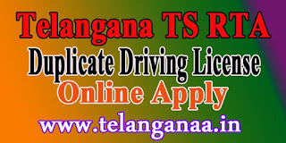 Telangana TS RTA Duplicate Driving License Online Apply