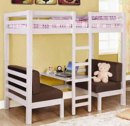 Bedroom Furniture - Loft beds: Kids loft beds with desks