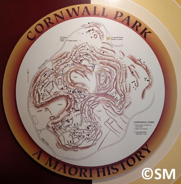 Plan du pa de One Tree Hill Auckland Nouvelle-Zélande