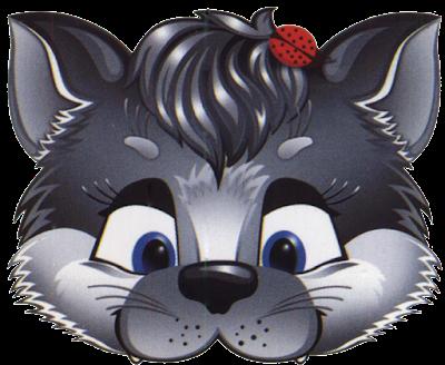 máscara gato gris