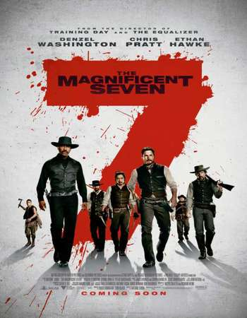 Poster Of The Magnificent Seven 2016 Dual Audio 350MB HDTS 480p Free Download Watch Online downloadhub.net