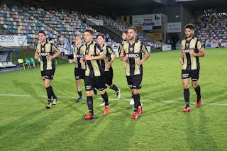 torneo Lasesarre entre el Barakaldo Club de Fútbol y el Real Racing Club de Santander