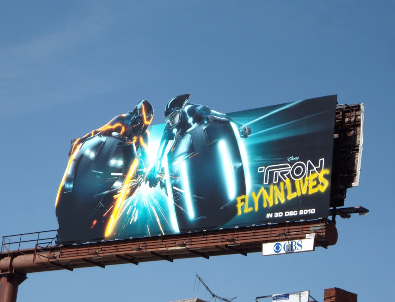 Tron Flynn Lives billboard