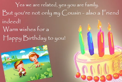 Happy Birthday wishes for cousin: yes we are related, yes you are family