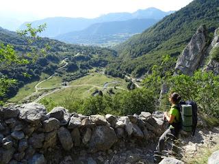 Plateau de Sauchese desde la senda de ascenso