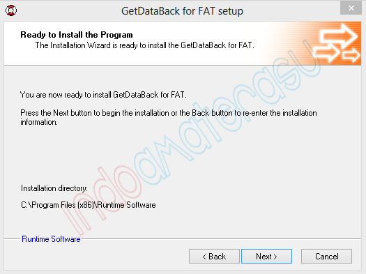 Cara install Get Data Back 5