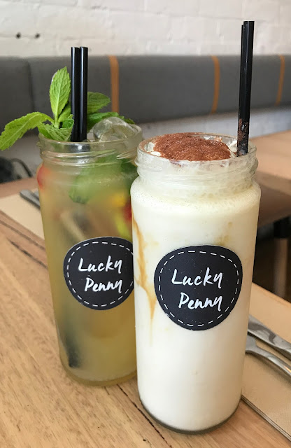 Lucky Penny, South Yarra, fruit punch, salted caramel milkshake