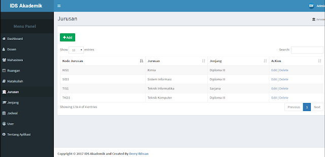 Sistem Informasi Akademik Siakad IDS 2 - Lupacode