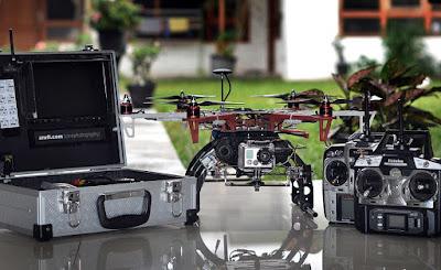 Satu Set DRONE Multirotor untuk foto udara era tahun 2013