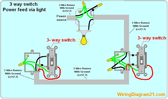 Wiring Diagram 2 Way Lights : Way switch wiring diagram house electrical