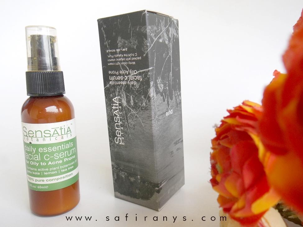 Safira Nys Review Sensatia Botanicals Daily Essential Facial