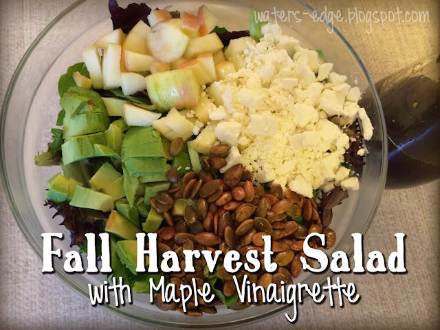 fall harvest salad with maple vinaigrette dressing recipe