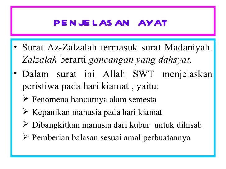 Ilmu Islam Al Zalzalah