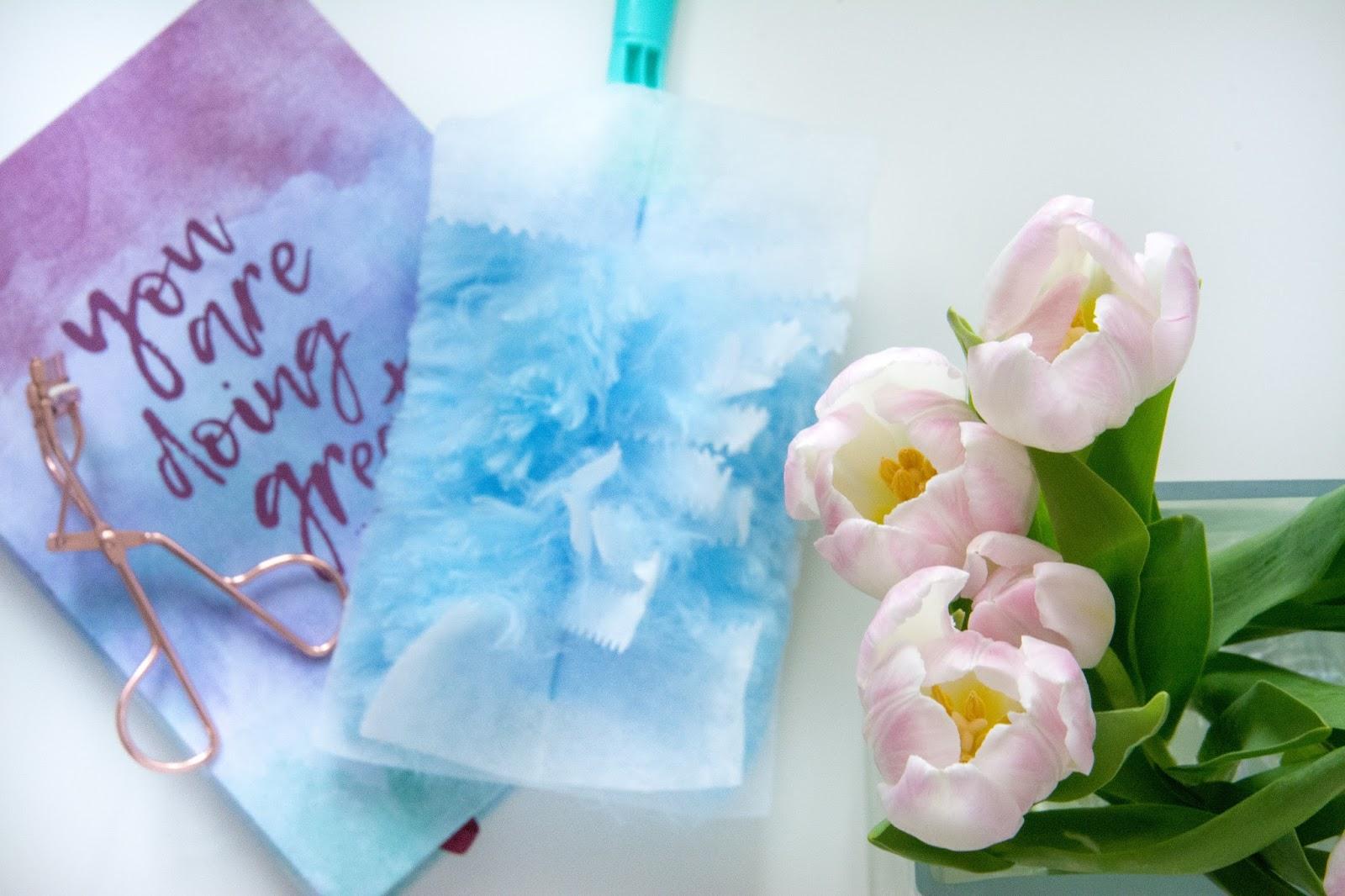Primark Rosegold Eyelash Curler; Hema Notebook You Are Doing Great; Fresh Tulips; Rossman Staubmagnet