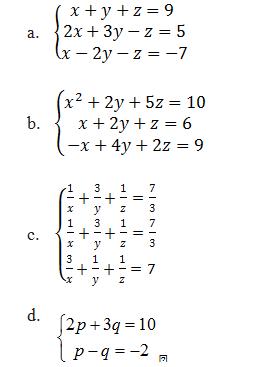 Contoh Soal Persamaan Linear Tiga Variabel : contoh, persamaan, linear, variabel, Sistem, Persamaan, Linear, Variabel, Contoh, Penerapannya, Partnermatematika.com