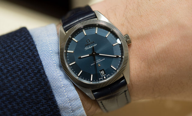 AAA Quality Replica Omega Globemaster Blue Pie Pan Dial 130.33.39.21.03.001 Watch From http://www.timestore.co/!