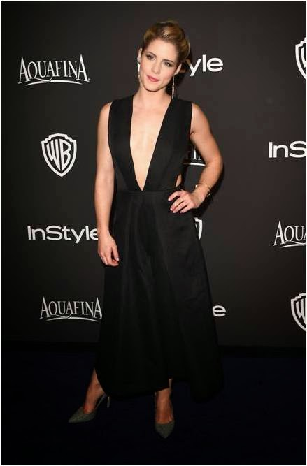 Emily Bett Rickards at Golden Globes After Party