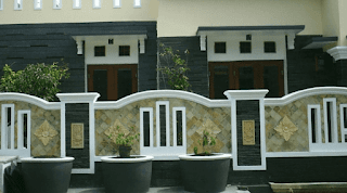 pagar rumah tingkat minimalis, pagar rumah tembok klasik