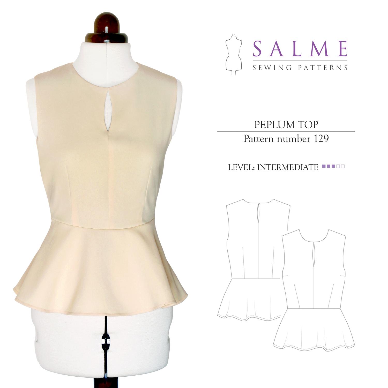 Linen Blouse Sewing Pattern | ANLIS