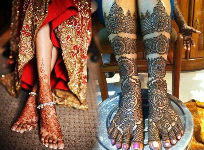 Wedding Mehndi Designs For Feet