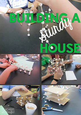 STEM Challenge: Since the foundation for the structure is unstable, you must build a house that can still remain intact after being shaken!