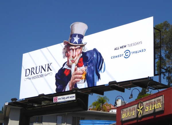 Uncle Sam Drunk History season 3 billboard