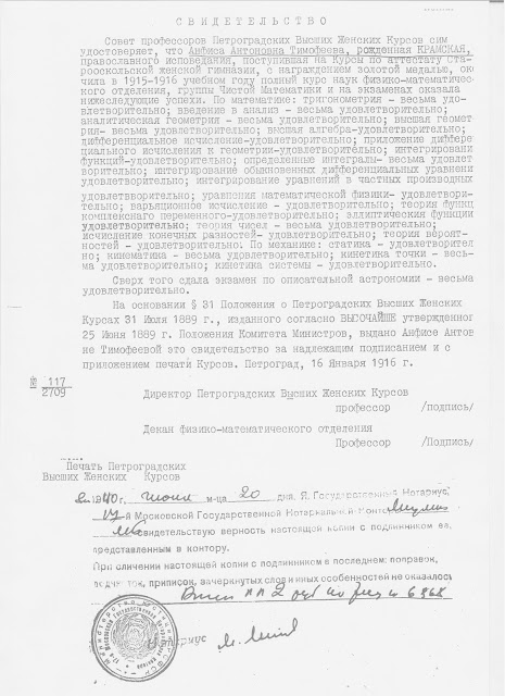 My Mother Anfisa Antonovna Kramskaya Was A Student Of Stary Oskol S