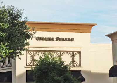 OMAHA STEAKS - Signage on Westheimer store (2015)(since closed)
