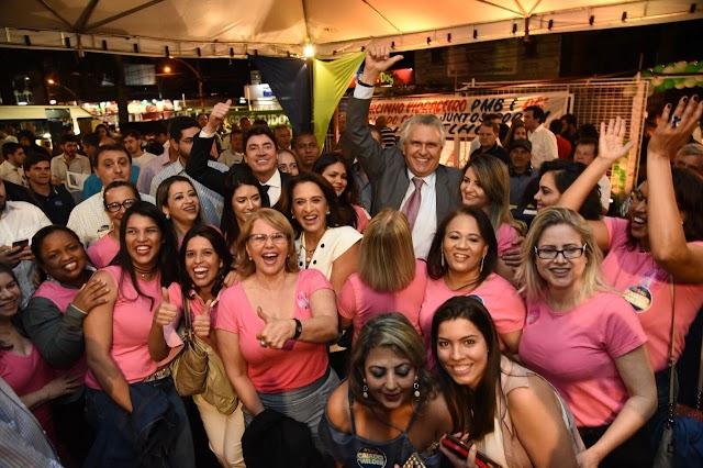 Caiado e Wilder apresentam propostas para as mulheres em evento aberto no Clube Jaó