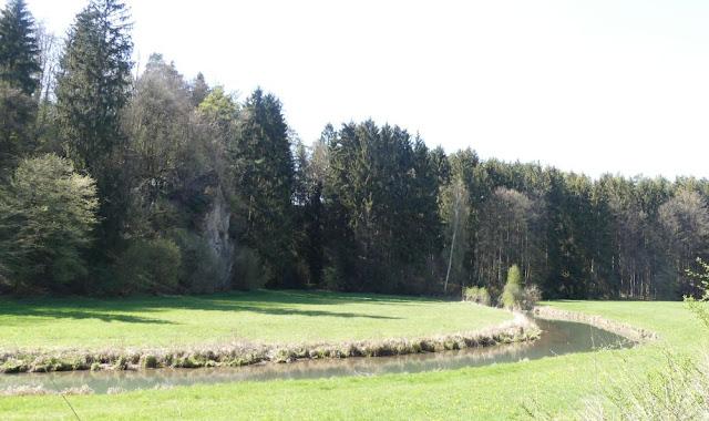 Die Wiesent bei Plankenfels, Fränkische Schweiz