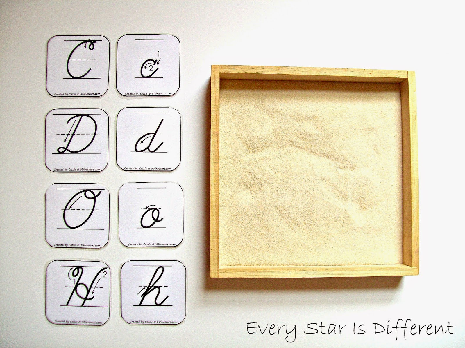 Cursive Letter Sand Tray