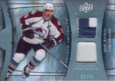 Wax Stain Rookie Sakic Patch