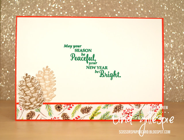 scissorspapercard, Stampin' Up!, CASEing The Catty, Painted Seasons, Star Of Light, Stitched Shapes Framelits, Rectangle Stitched Framelits