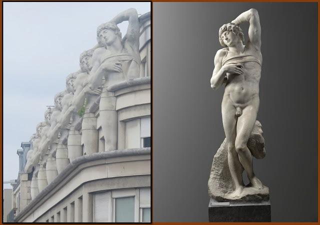 Michelangelo on the top floor.