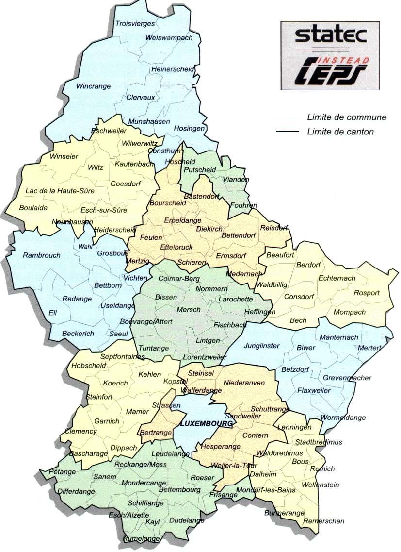 Luxemburgo | Mapas Geográficos de Luxemburgo