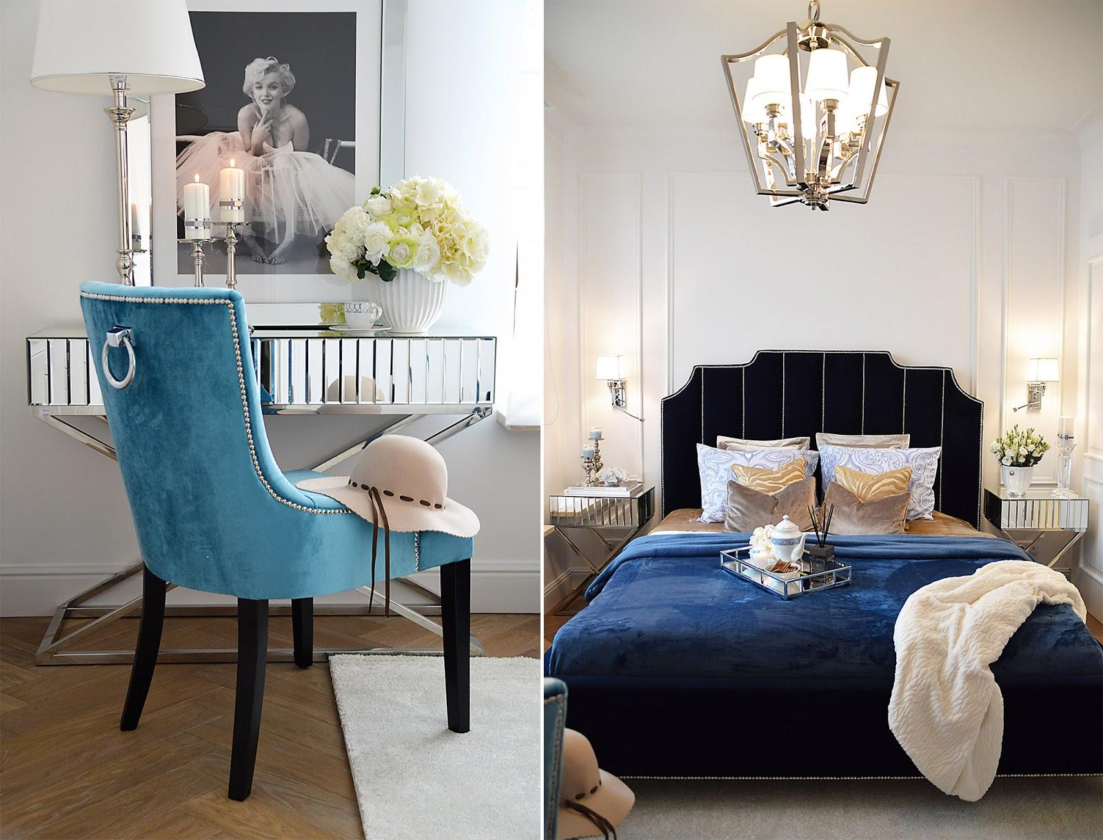 Sypialnia W Błękitach Zoyka Home Blog Wnętrzarski