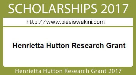 Henrietta Hutton Research Grant 2017