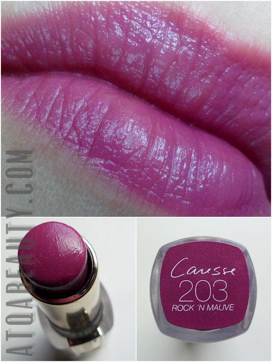 L'Oréal Rouge Caresse 203 Rock'n'Mauve