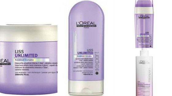 produtos loreal liss unlimited low poo