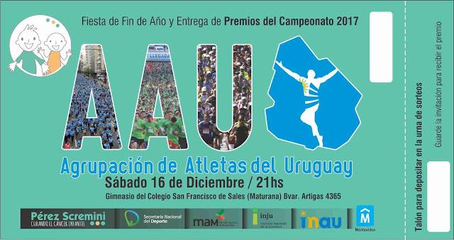 Fiesta de fin de año de la Agrupación de Atletas del Uruguay en Colegio Maturana (16/dic/2017)