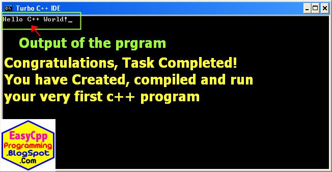 output of C++ program