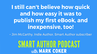 "image reads:  ""I still can't believe how quick and how easy it was to publish my first eBook, and inexpensive, too!"""