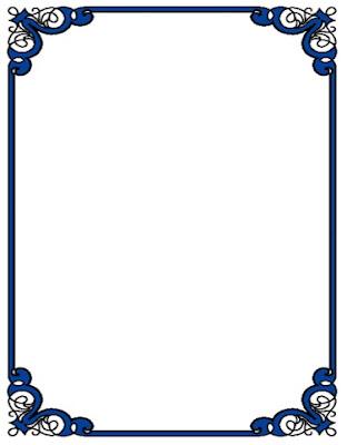bordes de colores gratis azul intenso para caratulas y portadas