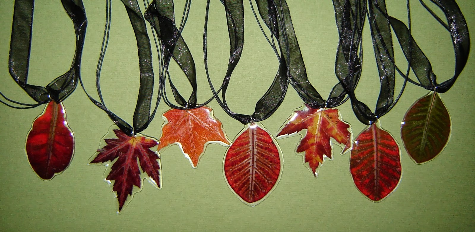 Pressed Garden Autumn Leaf Jewelry