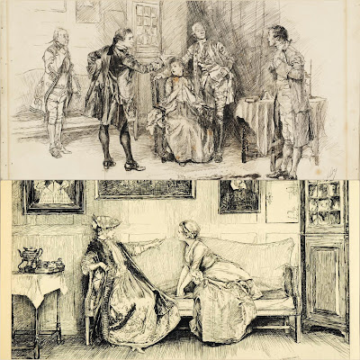 She Stoops To Conquer throws interesting side light on the town life of the time. In the city the ladies club occupied and important position in the life of the town.