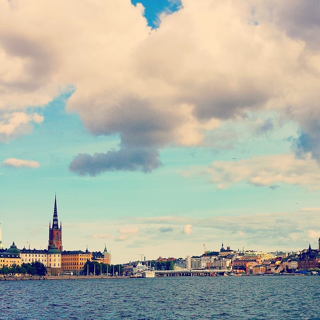 View of Gamla Stan & Södermalm from Kungsholmen  |  Peeking out on afeathery*nest  |  http://www.afeatherynest.com